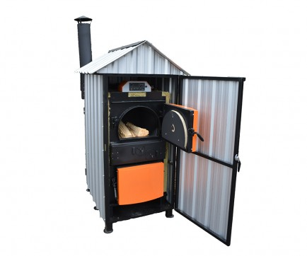 Outdoor wood gasification boilers